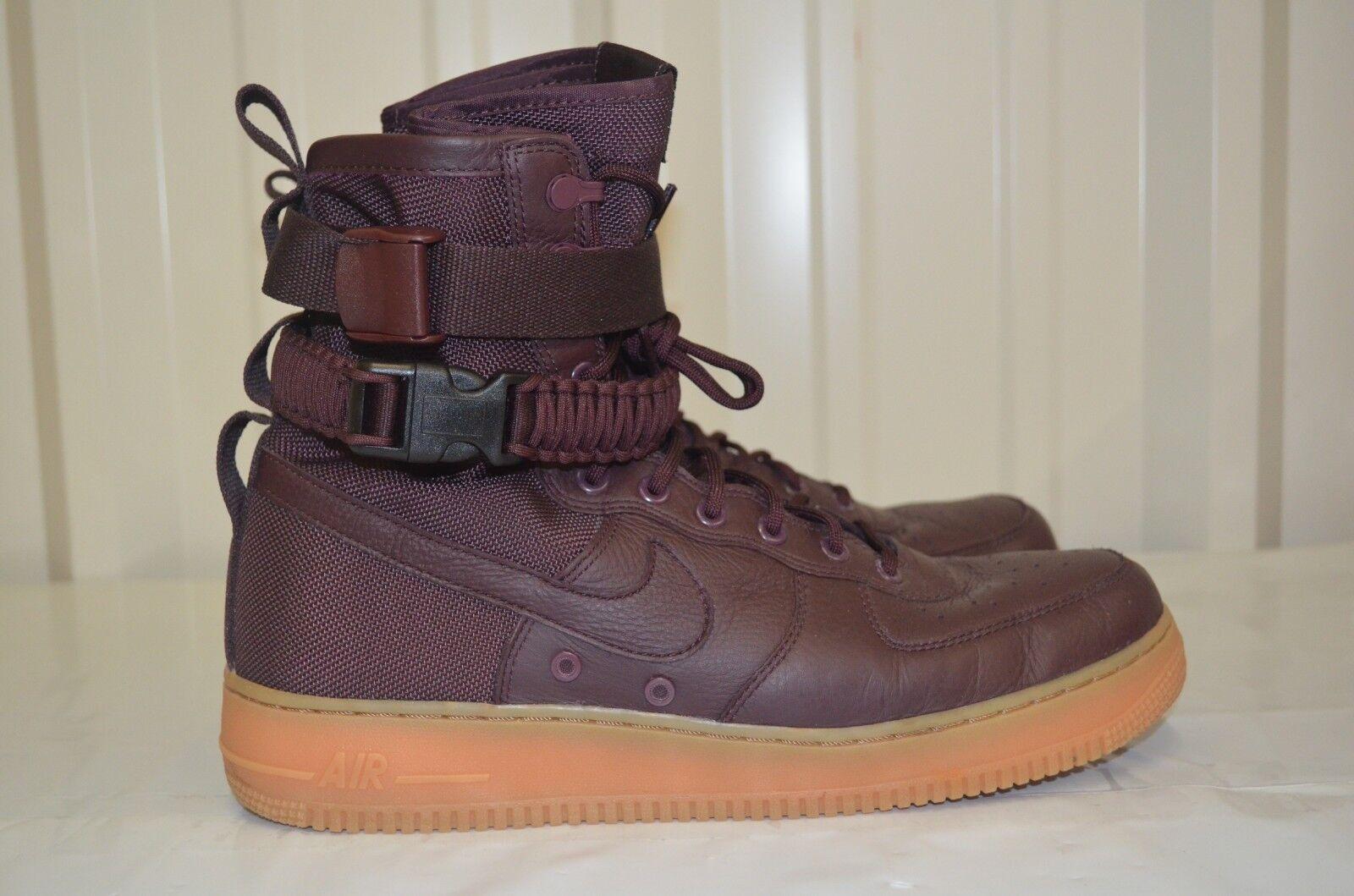 Men's Nike Special Field Air Force 1 SF AF1 Deep Burgundy 864024-600
