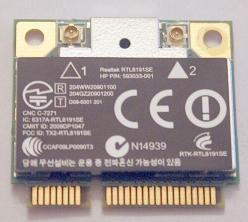 HP REALTEK RTL8191SE 802.11B//G//N WIFI ADAPTER 593533-001