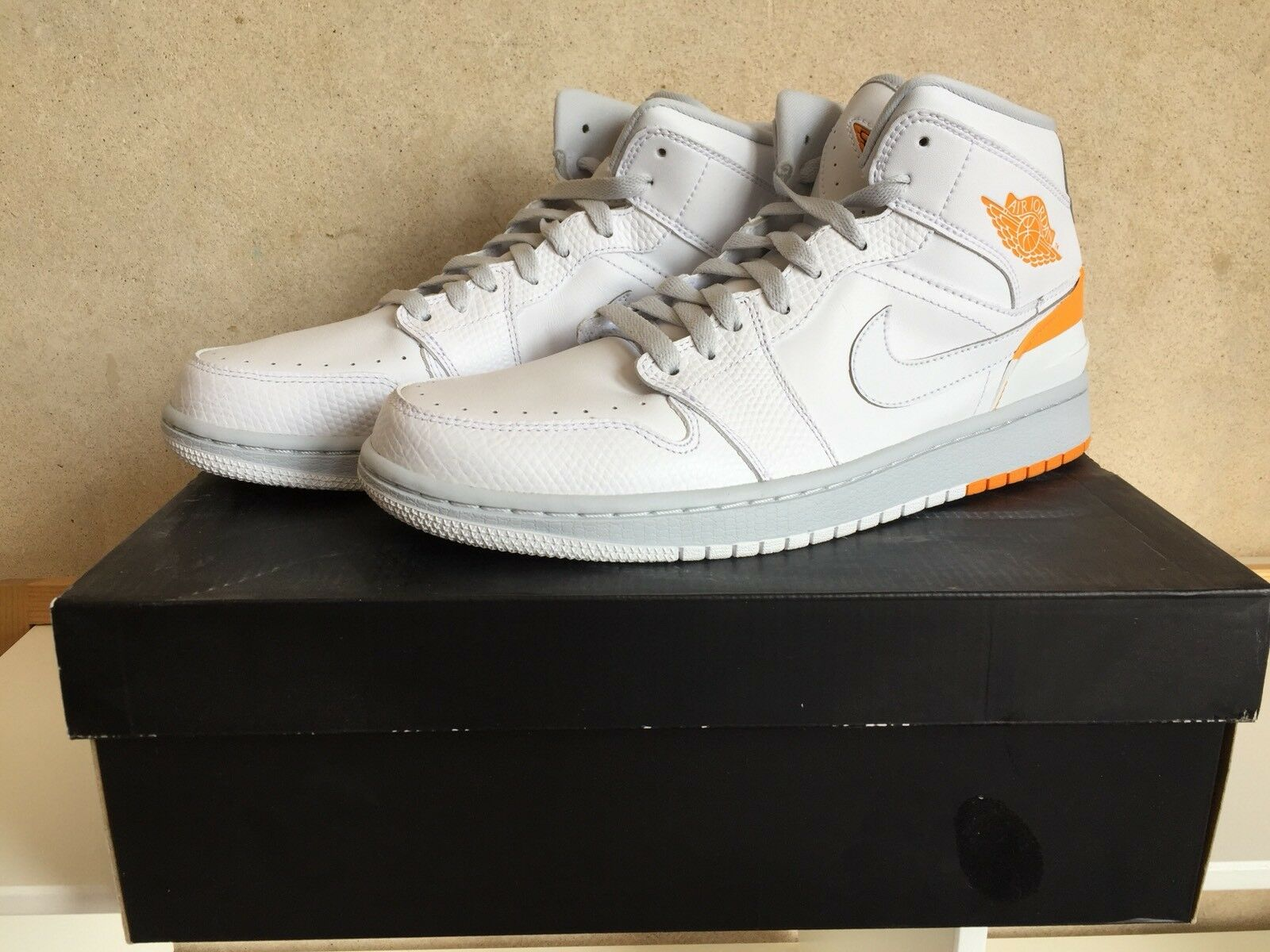 Nike air jordan 1 rtro 86 kumquat dimensioni limitate uk8 us9 nuova chiusi