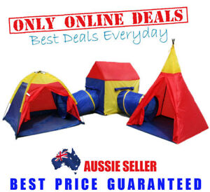 Childrens-Toddlers-Kids-Play-Tent-Cubby-House-Teepee-Tunnels-Toy-Gym-Ground