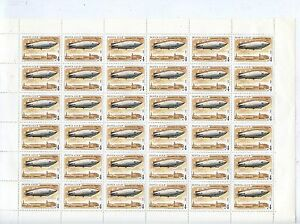 TIMBRE-RUSSIA-RUSSIE-FEUILLE-N-5879-36-TIMBRES-AVION-DIRIGEABLE