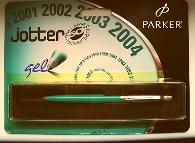 """PARKER JOTTER  GREEN """"50 YEAR ANNIVERASARY"""" 2004 in BOX and ORIGINAL SALES PACK"""