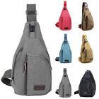 Men's Women's Small Canvas Sling Messenger Chest Bag Backpack Shoulder Travel RI