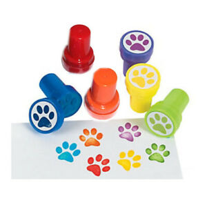 6-Dog-Paw-Prints-Mini-Stampers-Birthday-Party-Favor-Kids-Goody-Stuffer