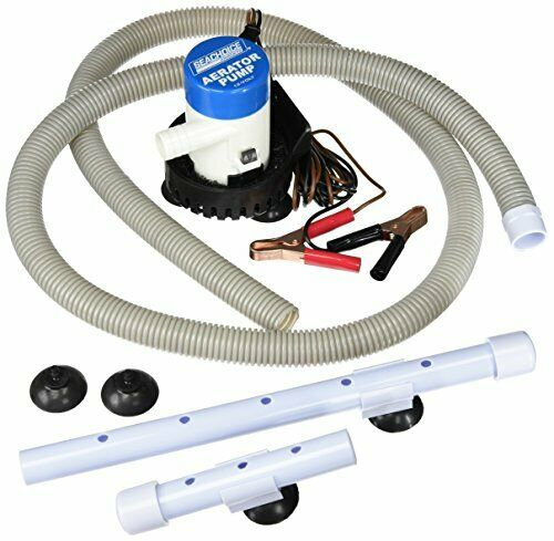 Seachoice Livewell Aerator SCP19481 Complete Pump System Kit for Fishing
