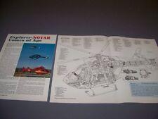 VINTAGE..DOUGLAS MD EXPLORER HELICOPTER...CUTAWAY/SPECS..RARE! (194F)