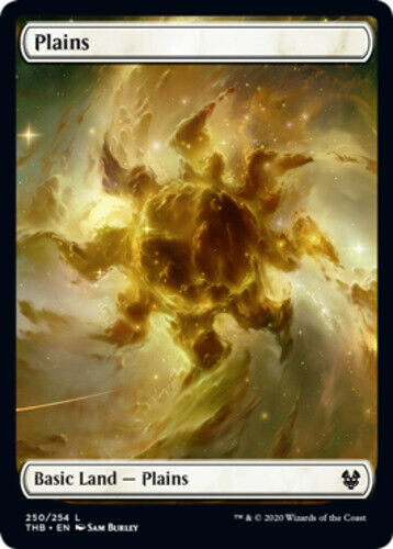 250 FULL ART MTG Theros Beyond Death NM Magic Regular 4x Plains