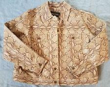 Women's Plus Margaret Godfrey leather jacket snakeskin print