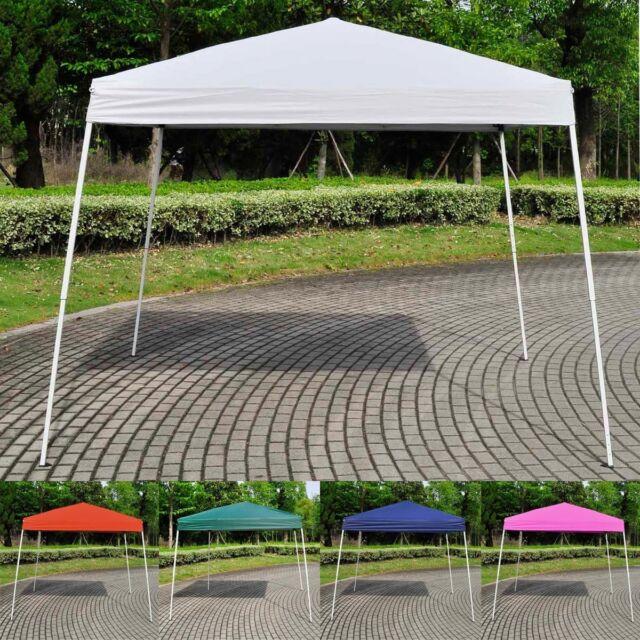 10'X10' EZ POP UP Wedding Party Tent Folding Gazebo Beach Canopy W/Carry Bag