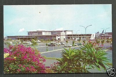 Tahiti Faaa Airport Entrance Cars French Polynesia 60s