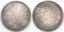 1921 Mexico 2 Peso Silver Coin XF+ Independence Winged Victory Dos Pesos KM-462