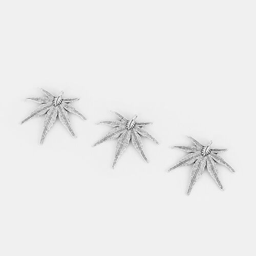 5pcs Cannabis Hemp Mariguana Marihuana Leaf Charms Pendants Jewelry Findings