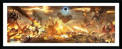 Dungeons /& Dragons Battle Framed Photographic Picture Print 75x30cm