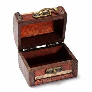Image Is Loading Stamp Small Metal Lock Jewelry Treasure Chest Case