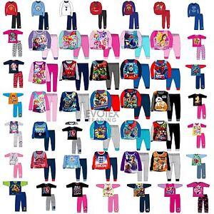 Kids-Pyjamas-Girls-Boys-Character-Football-Childrens-Pyjama-Set-Age-1-12-Years