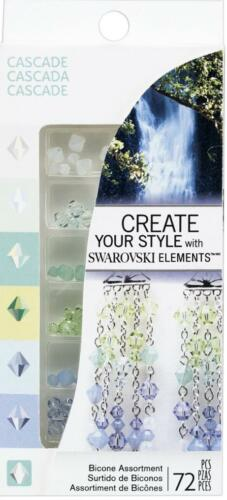 Ek Success Create Your Style with SWAROVSKI Crystal Assortment 72pc//Pkg-Cascade