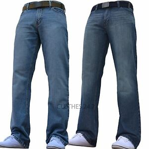 BNWT-NEW-MENS-STRAIGHT-LEG-REGULAR-FIT-DARK-BLUE-DENIM-JEANS-ALL-WAIST-amp-SIZES