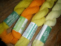 Big Lot Persian Wool Needlepoint Tapestry Crewel Yarn 3ply Yellow-orange 160yds