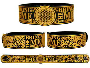 BRING-ME-THE-HORIZON-Rubber-Bracelet-Wristband-Suicide-Season-Sempiternal-Gold