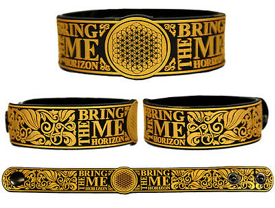 BRING ME THE HORIZON Rubber Bracelet Wristband Suicide Season Sempiternal Gold