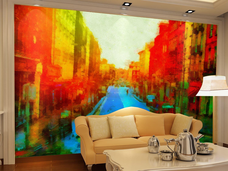 3D Dreamy Street Car 4 Wall Paper Wall Print Decal Wall Deco Indoor Wall Murals