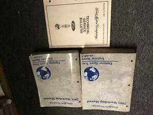 2001 Ford Explorer Sport Trac Service Shop Repair Manual Set W Technical Bulleti