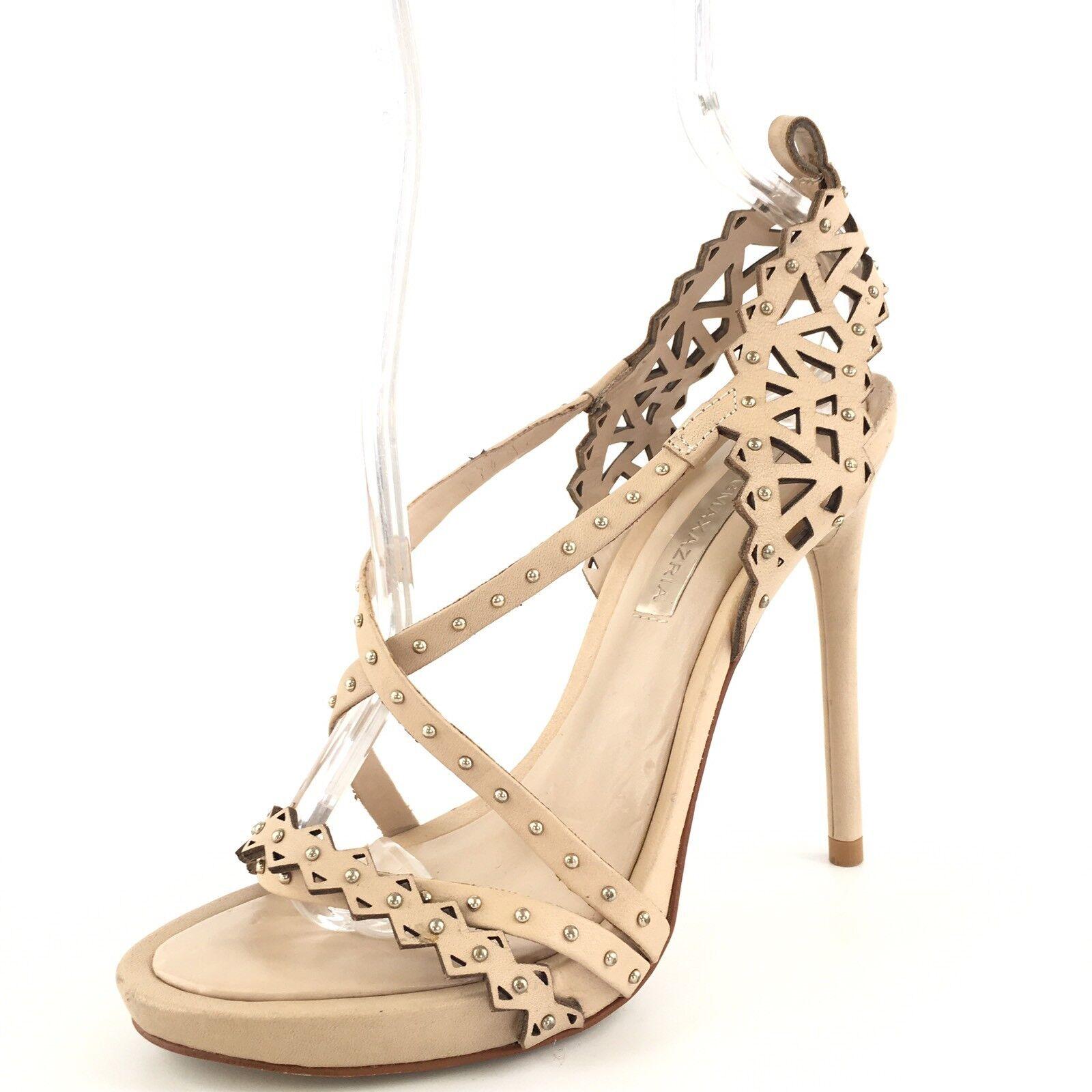 liquidazione BCBGMAXAZRIA Beige Leather Leather Leather Strappy Heels Sandals Donna  Dimensione 6 M  il più recente