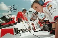 Jan Magnussen Hand Signed McLaren F1 12x8 Photo.