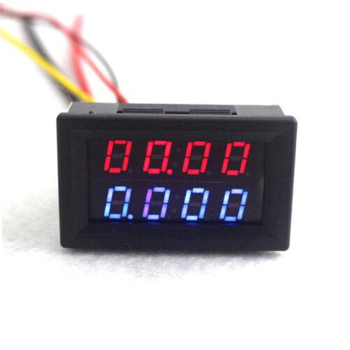 1050100 Voltmeter Amperemeter LED Dual Digital Volt Amp Meter Messgerät-2018`