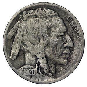 1920-D-Buffalo-Nickel-5c-Cent-Very-Good-VG-Condition