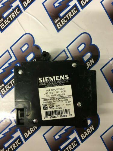 Warranty Siemens 2 1 POLE 20 AMP 120//240 VOLT Circuit Breaker ITE Q2020NC,