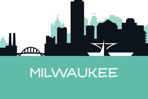 Milwaukee-Wisconsin-Skyline-Art-Print-Poster-18x12-inch