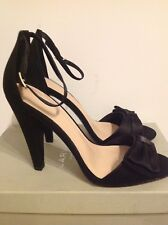 Carvela Kurt Geiger Black Stiletto High Heels Strap Size 39 UK 6.5