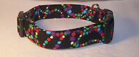 Wet Nose Designs Bourbon Street Beads Dog Collar Mardi Gras Red Green Purple