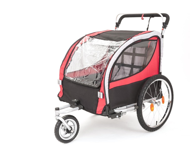 Kranich 2in1 Kinderanhänger Fahrradanhänger für + Jogger TÜV/GS für Fahrradanhänger 2 Kinder 7e0164