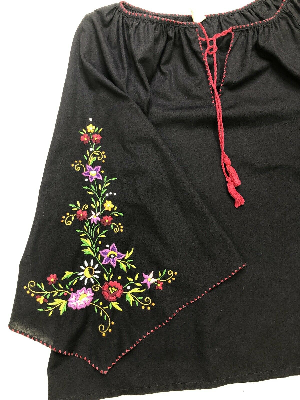 Hungarian Peasant Blouse, Vintage, Hand Embroider… - image 6