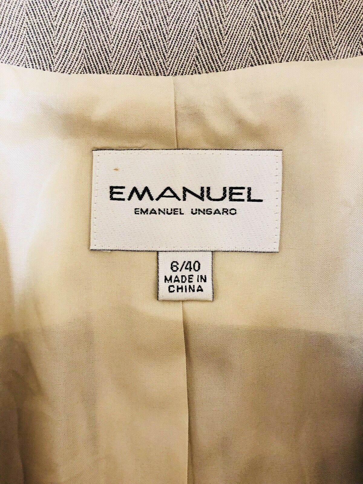 Pre-Owned Women's Emanuel Emanuel Emanuel Ungaro Blazer, Tan, Sz 6 40 1c9860