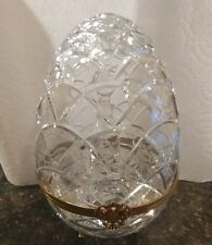 FABERGE CRYSTAL EGG VODKA LIQUOR SHOT GLASS DECANTER CAVIAR BOWL SET