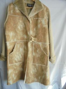 Exclusive Large scamosciata Cappotto marrone similpelle in Swing Casamia Xqx0xwZ4