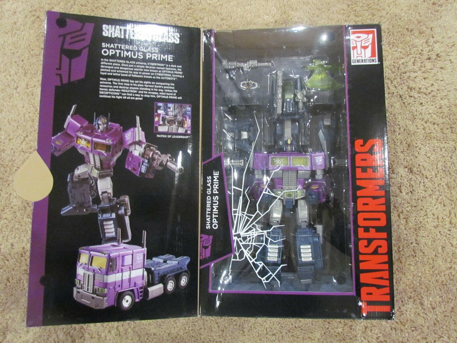 BRAND NEW MISB Transformers Masterpiece Shatterot Glass Optimus Prime MP 10 MP10