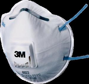 10 x 3M  Partikelfilter FFP 2 mit Ventil 06922 Atemschutzmaske Staubmaske