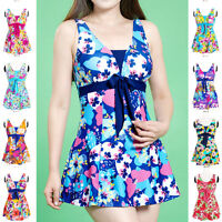 Ladies Swimwear One Piece Swimdress Tankini AUS Size 8 10 12 14 16 18 #A7009