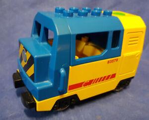 Lego Duplo Elektrische Lokomotive Eisenbahn Diesellok Blau Gelb Ebay