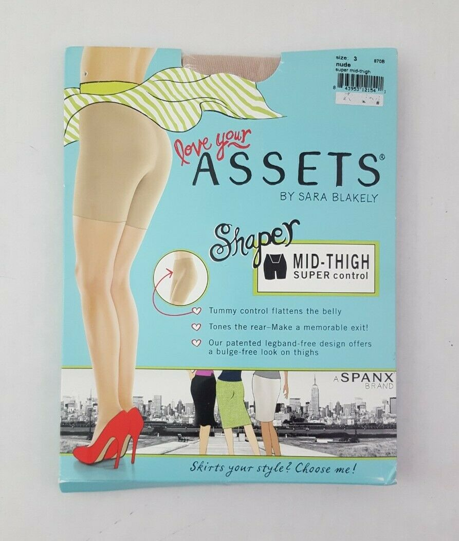 Nude Size 5 NEW Assets Spanx Shaping Short #870B All Day Comfort!