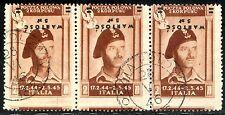 Corpo Polacco 1946 P.A. n. 1b striscia di 3 - varietà (m160)