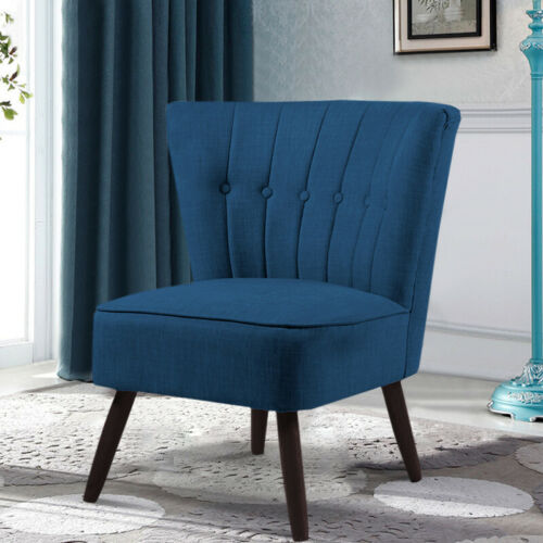 Bedroom Oyster Channel Back Fabric Chair Accent Chairs Living Dining Room Seat