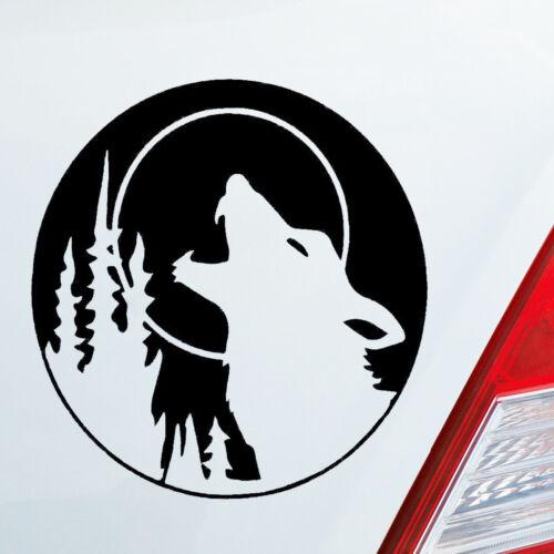 Voiture Autocollant Wolf hurler Tuning Animal Animal werfolf Chien Sticker OEM JDM 150