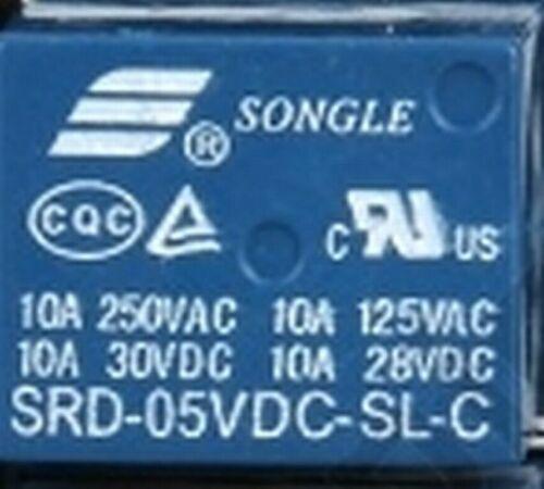 10 x Relais 5V 1 x Umschalter ; max 250V AC//10A