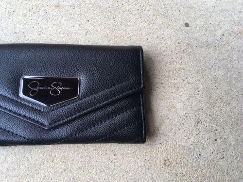 Jessica Simpson Black Jenita Tri Fold Wallet 10th Anniversary Edition NWT