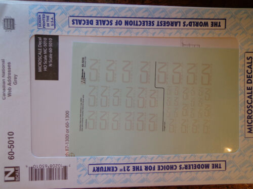 Microscale Decal N  #60-5010 Canadian National Web Addresses Grey